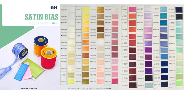 satin bias tape Color Card