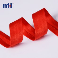 single fold satin bias tape